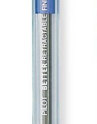 pilot better retractable ballpoint pen blue fine