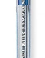 pilot better retractable ballpoint pen blue medium