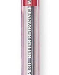pilot better retractable ballpoint pen red medium