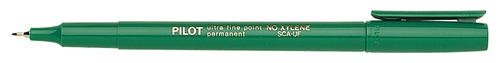 pilot permanent marker pen green
