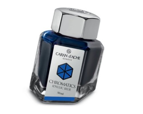 Caran d'Ache Chromatics INKredible Colors - Idyllic Blue (50ml)