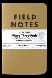 Field Notes Kraft Mixed 3-pack