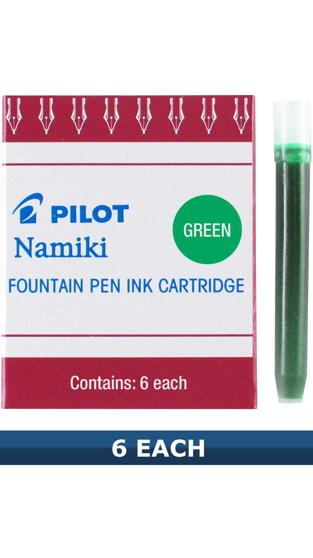 Pilot Green Fountain Pen Ink Cartridges IC-50 Item 69003