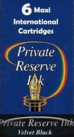 Private Reserve Ink Long Cartridges 6-pack Velvet Black