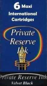 Private Reserve Ink Long Cartridges 6-pack Velvet Black