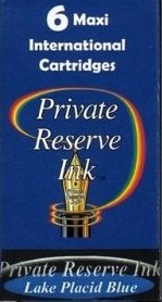 Private Reserve Ink Long Cartridges 6-pack Lake Placid Blue
