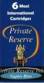 Private Reserve Ink Long Cartridges 6-pack Naples Blue