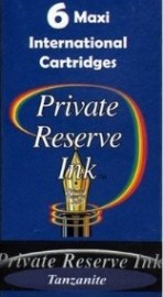 Private Reserve Ink Long Cartridges 6-pack Tanzanite
