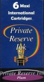 Private Reserve Ink Long Cartridges 6-pack Plum