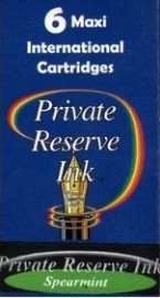 Private Reserve Ink Long Cartridges 6-pack Spearmint
