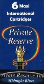Private Reserve Ink Long Cartridges 6-pack Midnight Blues