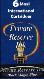 Private Reserve Ink Long Cartridges 6-pack Black Magic Blue