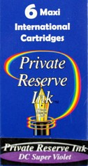 Private Reserve Ink Long Cartridges 6-pack DC Super Violet