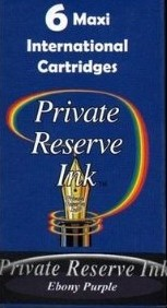 Private Reserve Ink Long Cartridges 6-pack Ebony Purple