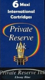Private Reserve Ink Long Cartridges 6-pack Ebony Blue
