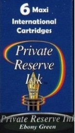 Private Reserve Ink Long Cartridges 6-pack Ebony Green