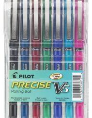 Pilot Pens Precise V5 Assorted 7-pack Pouch - 26015