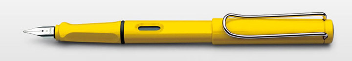 Lamy Safari Fountain Pen Shiny Yellow