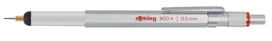 Rotring 800 Mechanical Pencil + Stylus Hybrid Silver 0.5mm