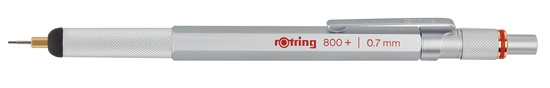 Rotring 800 Mechanical Pencil + Stylus Hybrid Silver 0.7mm