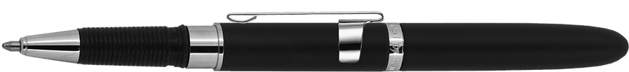 Fisher Space Pen Matte Black Bullet Grip Space Pen with Clip & Stylus BG4CL/S