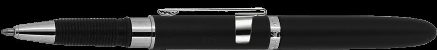 Fisher Space Pen Matte Black Bullet Grip Space Pen with Clip & Stylus BG4CL/S