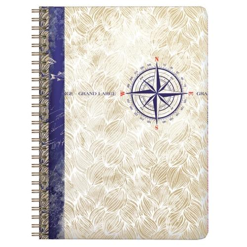 Clairefontaine Maritime Collection Wirebound Notebooks 5 ¾ x 8 ¼