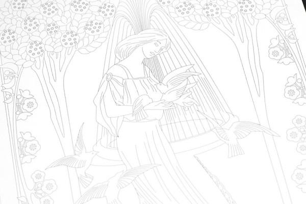 Artists Coloring Book Pepin : Pepin artists colouring book art nouveau pens fountain