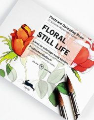 Pepin Artists' Postcard Colouring Book-Floral Still Life