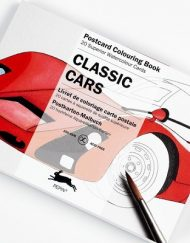 Pepin Artists' Postcard Colouring Book-Classic Cars