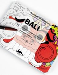 Pepin Artists' Postcard Colouring Book-Bali