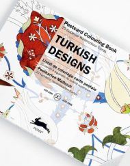 Pepin Artists' Postcard Colouring Book-Turkish Designs