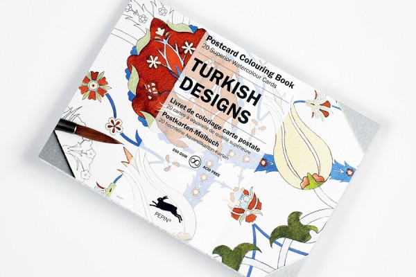 Colouring Book Turkish Designs Postcards