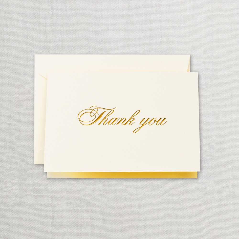 Gold Script Thank You Note Crane Stationery Pens Fountain Writing Instruments Ink Office Supplies A Pen Paradise