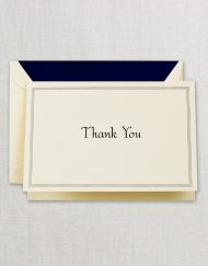 Regent Blue Triple Hairline Thank You Note
