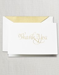 Hand Engraved Calligraphic Thank You Note