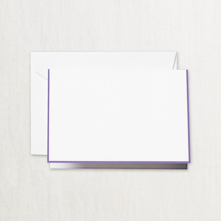Amethyst Bordered Note - Crane Stationery