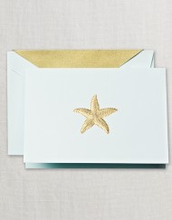 Crane Stationery Hand Engraved Starfish Note