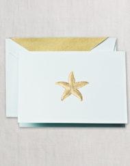 Crane Stationery Hand Engraved Starfish Note