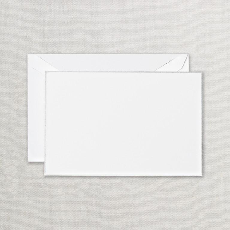 Platinum Bordered White Correspondence Card