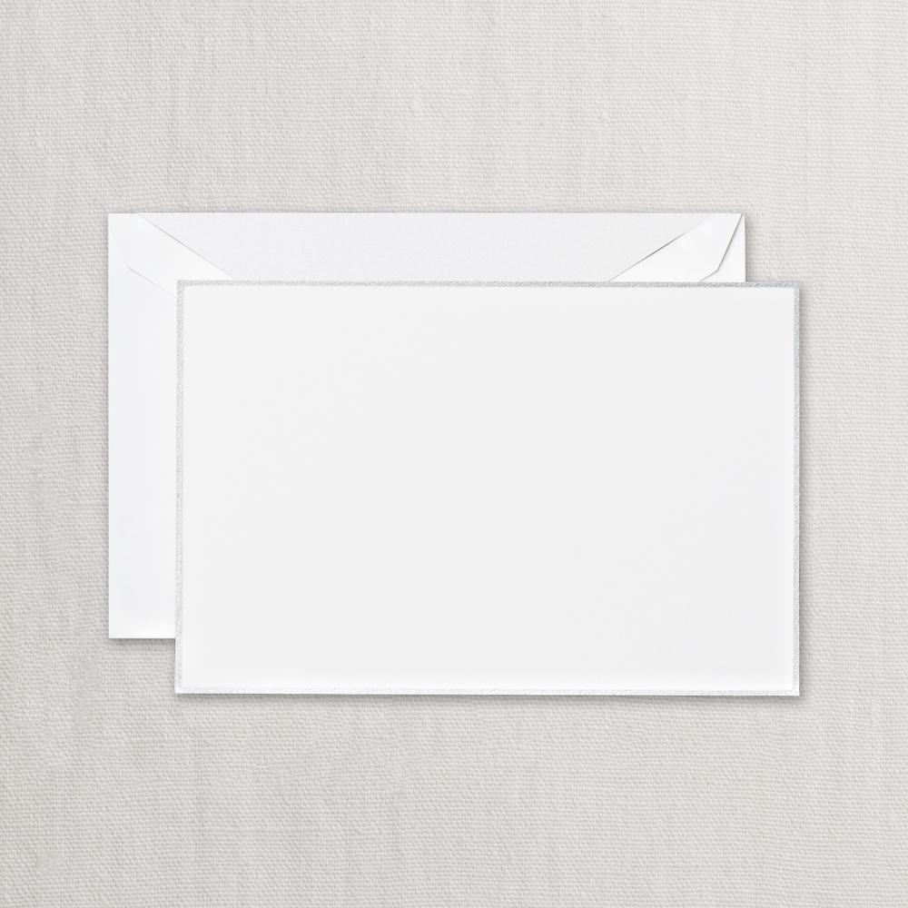 Regent Blue Triple Hairline Correspondence Card Crane /& Co CC3315