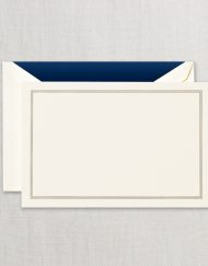 Regent Blue Triple Hairline Correspondence Card