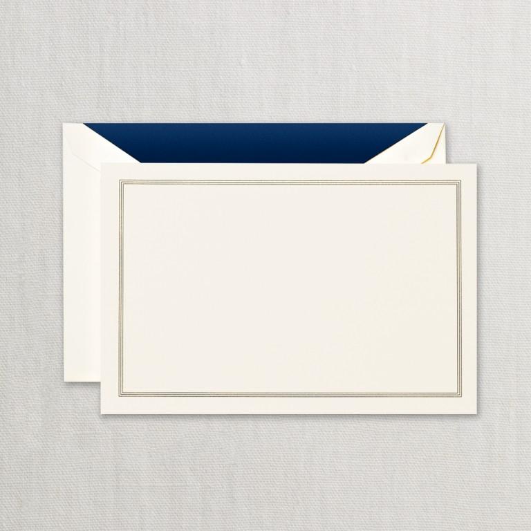 Regent Blue Triple Hairline Correspondence Card