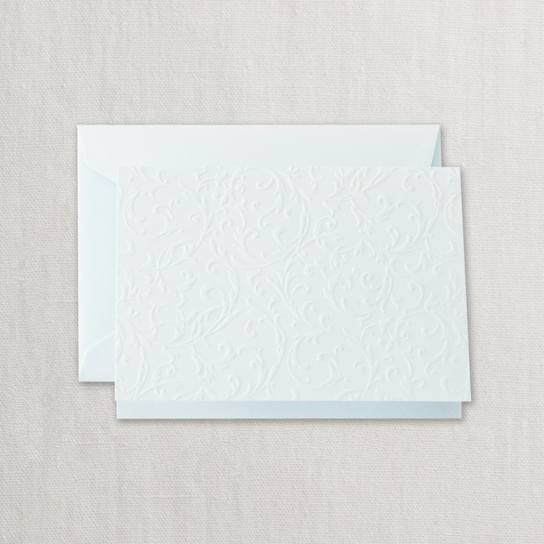 Beach Glass Blind Embossed Note