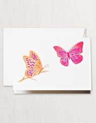 Brushstroke Butterflies Note
