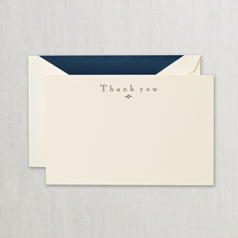 Navy Thank You Card