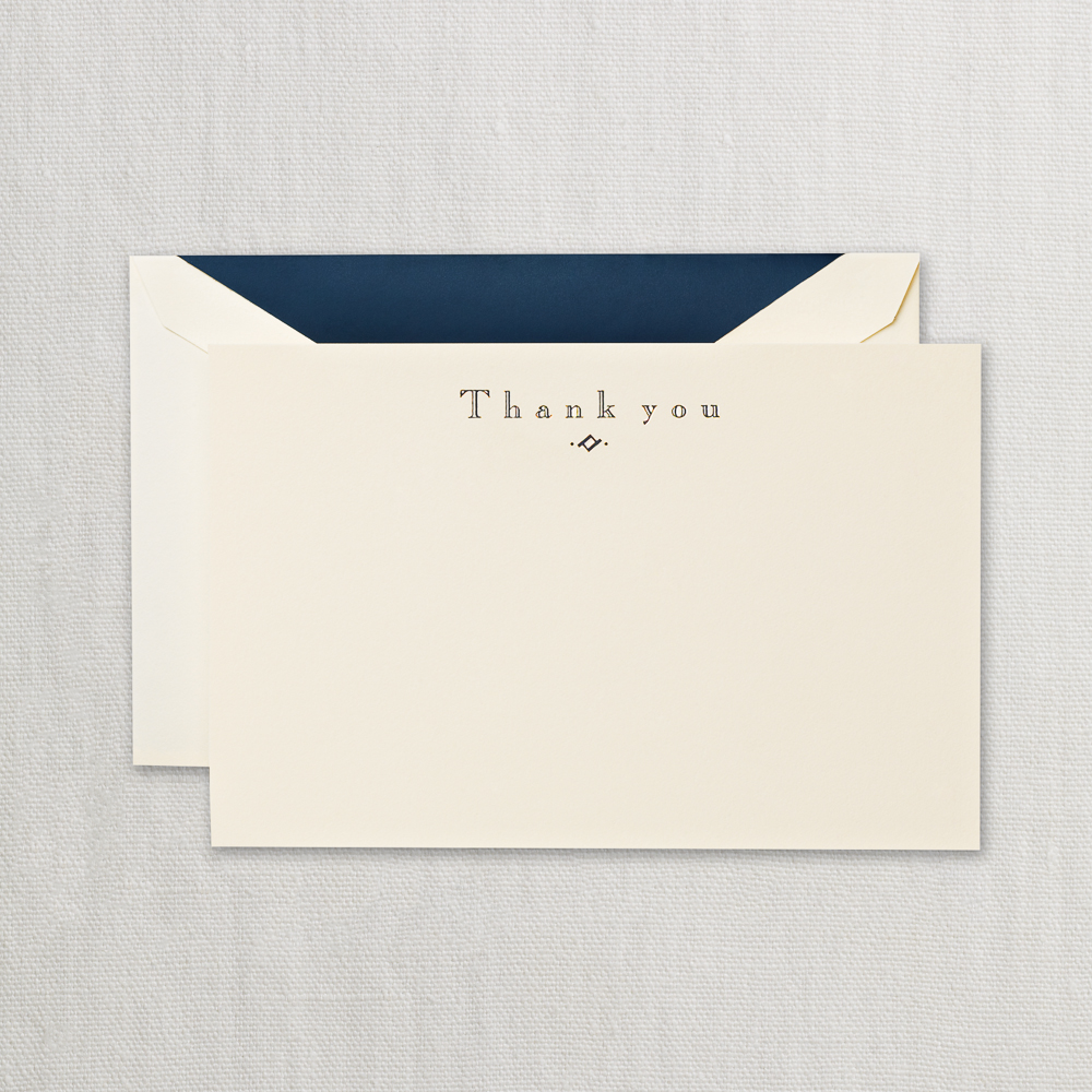 navy thank you card crane stationery pens fountain pens writing instruments ink stationery office supplies a pen lovers paradise - Thank You Note Cards