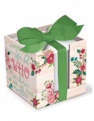 Lady Jayne Floral Wood Wash Memo Set w/Pen 13531