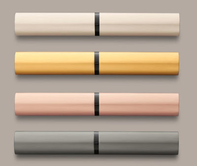 Lamy Lx cases: Palladium, Gold, Rose Gold and Ruthenium