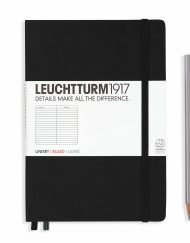 Leuchtturm 1917 A5 Notebook Black Ruled